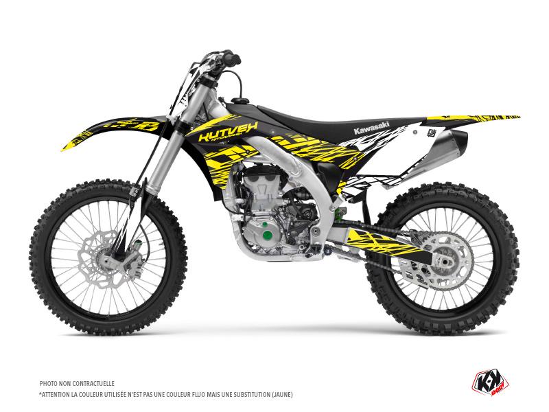 Kawasaki 450 KXF Dirt Bike Eraser Fluo Graphic Kit Yellow