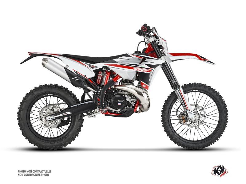 Beta 200 RR 2-stroke Dirt Bike FIRENZE Graphic Kit White