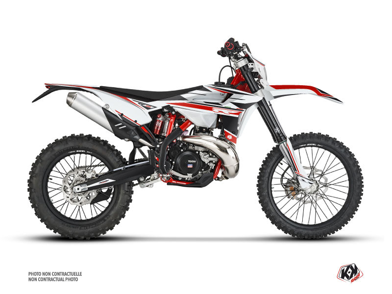 Beta 300 RR 2-stroke Dirt Bike FIRENZE Graphic Kit White