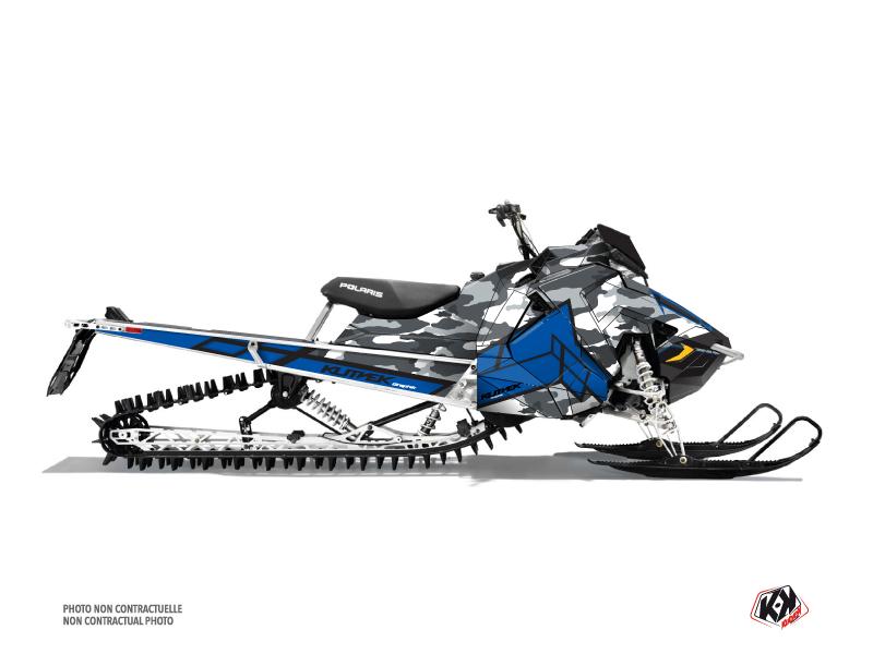 Polaris Axys Snowmobile Kamo Graphic Kit Grey Blue