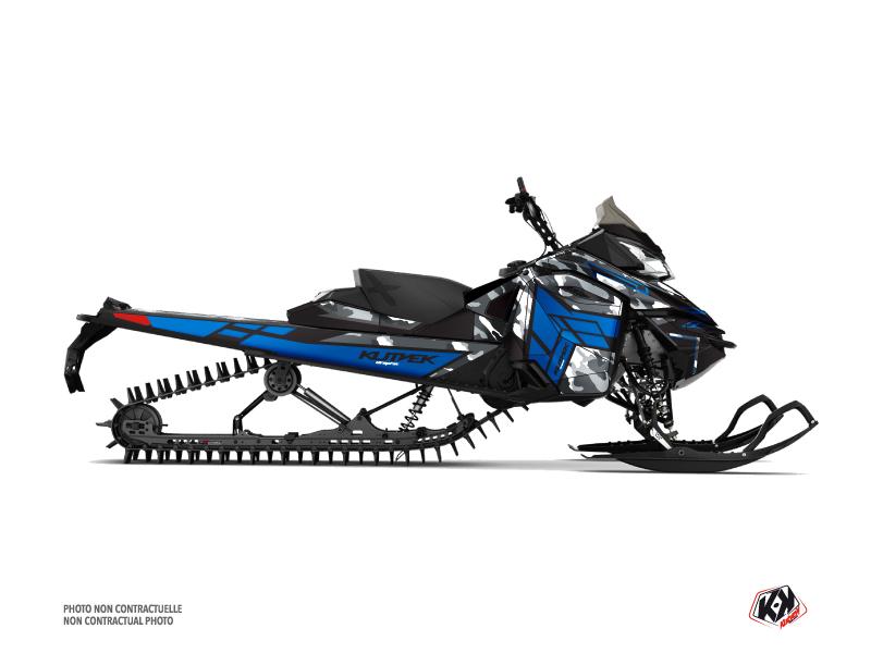 Kit graphique Motoneige Kamo Skidoo REV XM Gris Bleu