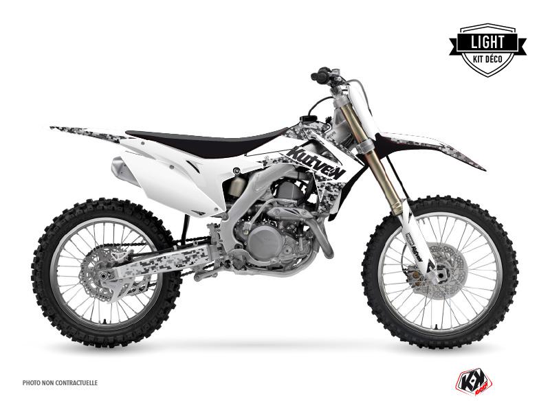 Honda 250 CRF Dirt Bike Predator Graphic Kit White LIGHT