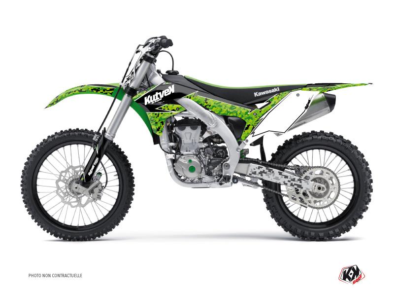 Kawasaki 450 KXF Dirt Bike Predator Graphic Kit Black