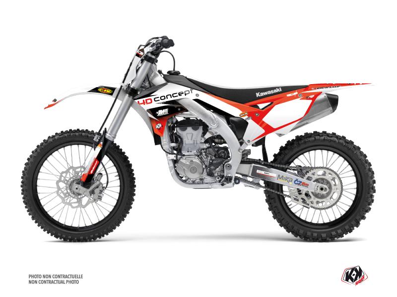 Kawasaki 450 KXF Dirt Bike Replica BOS Graphic Kit