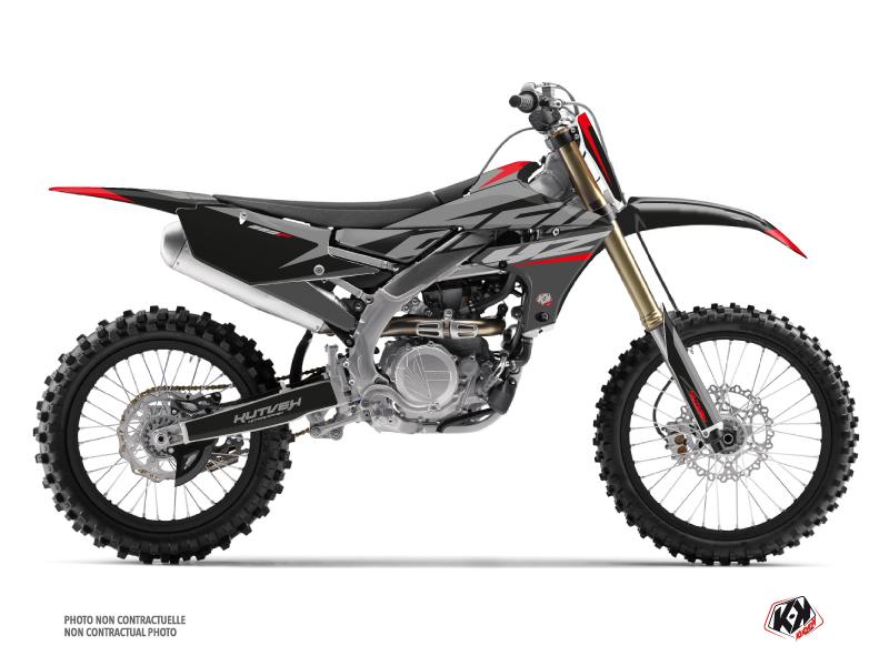Kit graphique Moto Cross Skew Yamaha 250 YZF Rouge