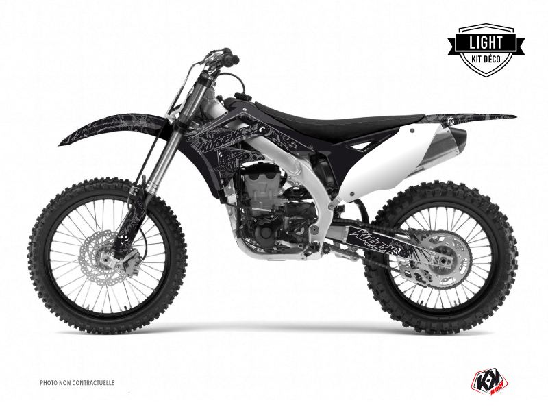 Kawasaki 250 KX Dirt Bike Zombies Dark Graphic Kit Black