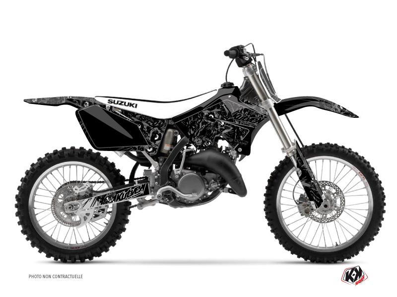 Suzuki 250 RM Dirt Bike Zombies Dark Graphic Kit Black