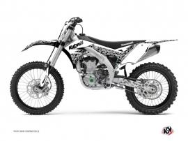 Kawasaki 450 KXF Dirt Bike Predator Graphic Kit White