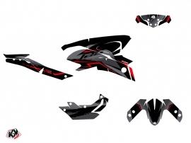 Yamaha MT 125 Street Bike Airline Graphic Kit Black Red
