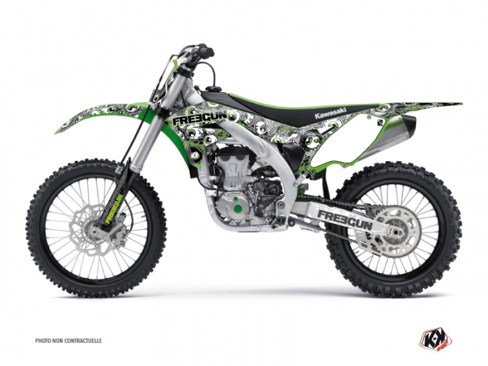 Kit Déco Moto Cross Freegun Eyed Kawasaki 450 KXF Vert