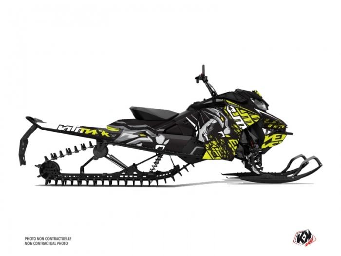 Skidoo Gen 4 Snowmobile Keen Graphic Kit Neon Grey