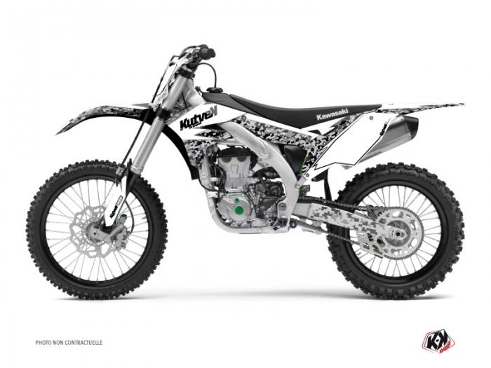 Kit Déco Moto Cross Predator Kawasaki 250 KX Blanc
