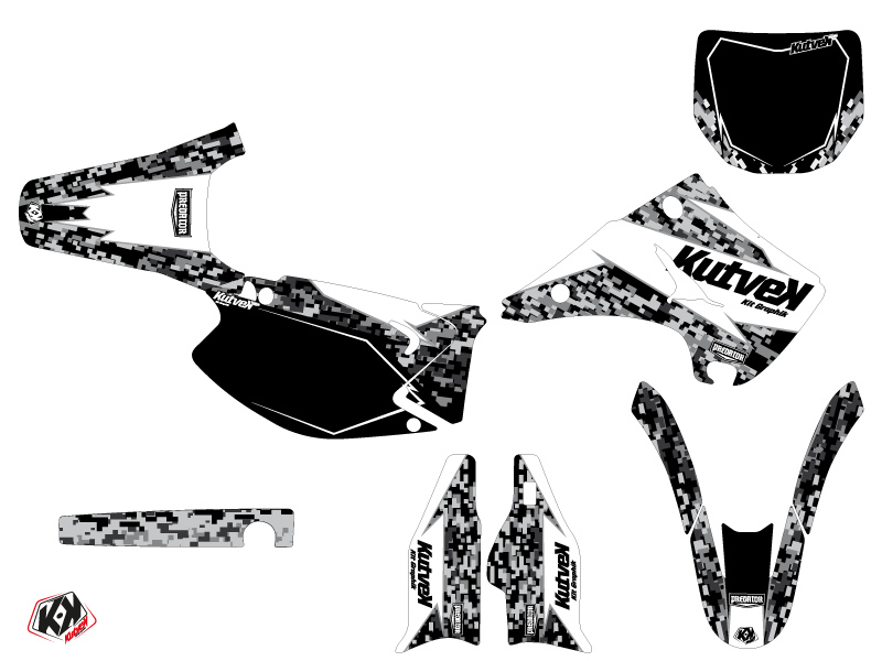 Kit Déco Moto Cross Predator Kawasaki 125 KX Blanc