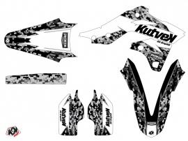 Kit Déco Moto Cross Predator Kawasaki 250 KXF Blanc LIGHT