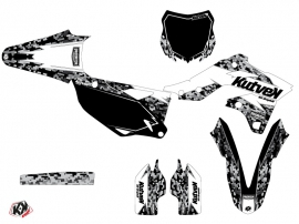 Kit Déco Moto Cross Predator Kawasaki 250 KXF Blanc