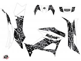 Kit Déco Quad Predator Yamaha 700-708 Grizzly Blanc