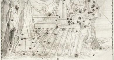 Het sterrenbeeld carina uit de steratlas van johann bayer