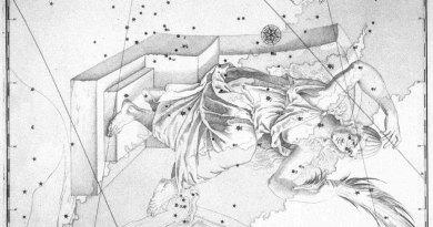Het sterrenbeeld Cassiopeia uit de steratlas van John Bevis