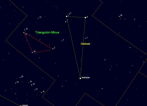 Triangulum Minus - sterrenkaart
