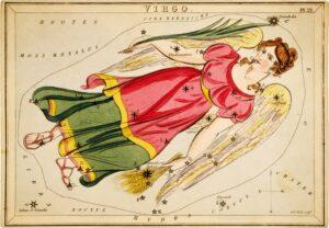 Virgo - uit Urania's Mirror (ca. 1825)