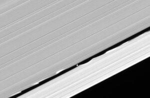 Het maantje Daphnis zorgt voor wervelingen aan de randen van de Keeler scheiding.