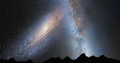 Andromeda en ons eigen sterrenstelsel botsen