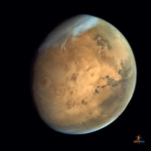 Mars, gefotografeerd door de Mars Insertion Orbiter