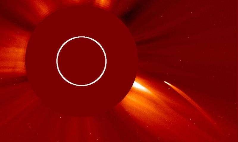 SOHO fotografeert sungrazer