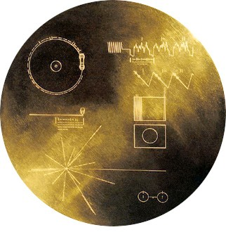 De gouden plaat aan boord van Voyager 1
