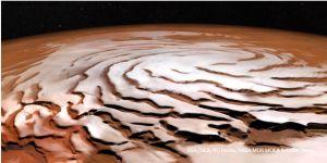 De noordpool van Mars