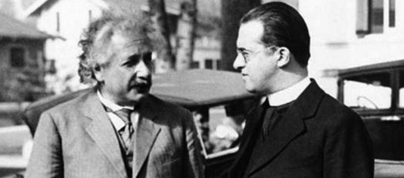 Georges Lemaître en Albert Einstein