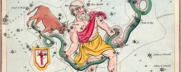 Ophiuchus uit Urania's Mirror