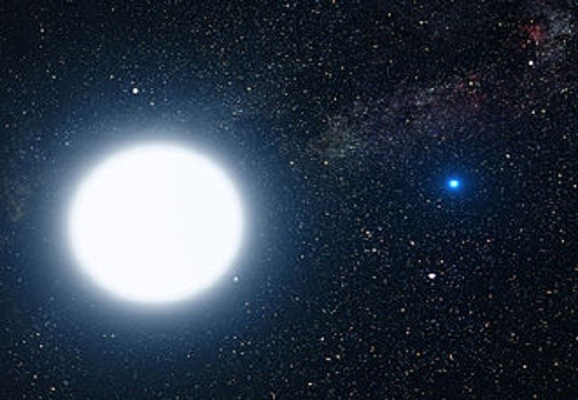 Sirius A en B illustratie
