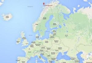 Locatie van Andøya