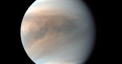 Venus gezien door de Akatsuki ruimtesonde