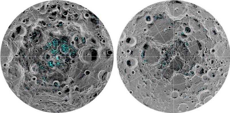 Waterijs op de Maan
