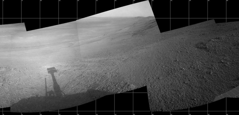 panorama gemaakt door de Opportunity rover van de NASA