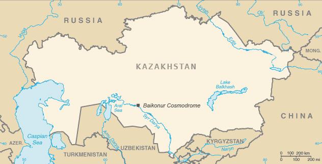 Locatie lanceerbasis Baikonoer