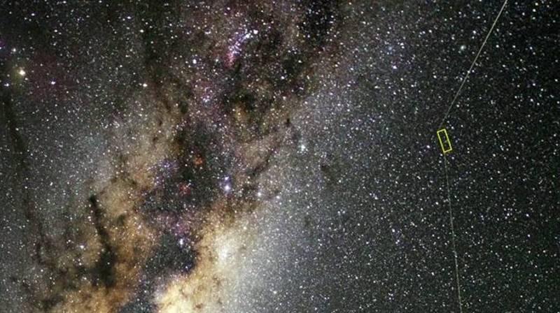 Loactie oude ster in onze Melkweg