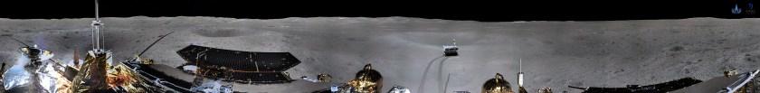 360 graden panorama van de verre zijde van de Maan