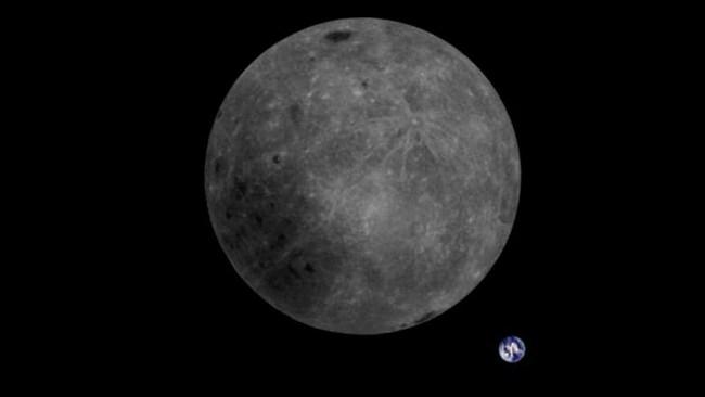 De verre zijde van de maan en de Aarde