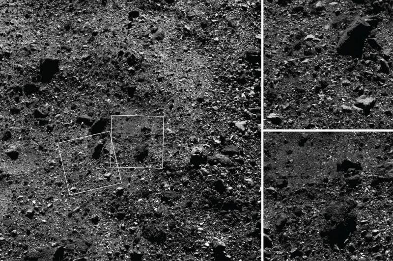 noordelijk half rond van asteroïde Bennu
