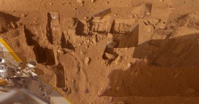 Phoenix Lander graaft op Mars