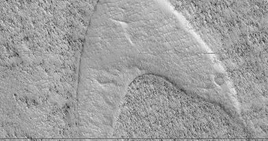 Star Trek logo op Mars gevonden