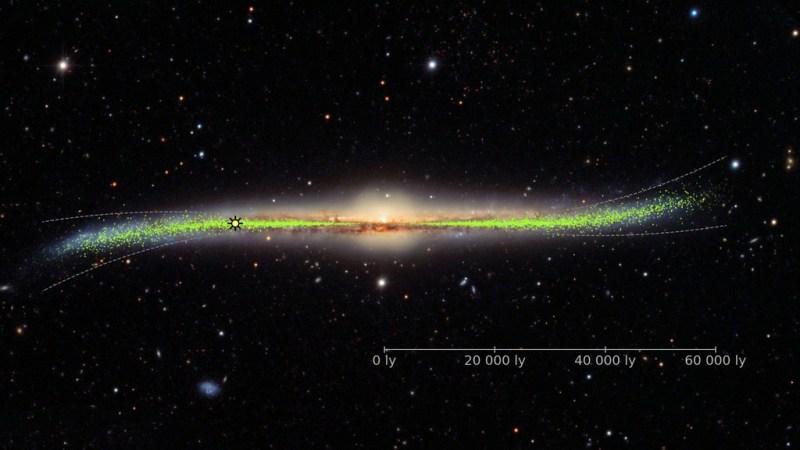 Ons sterrenstelsel is verrassend krom