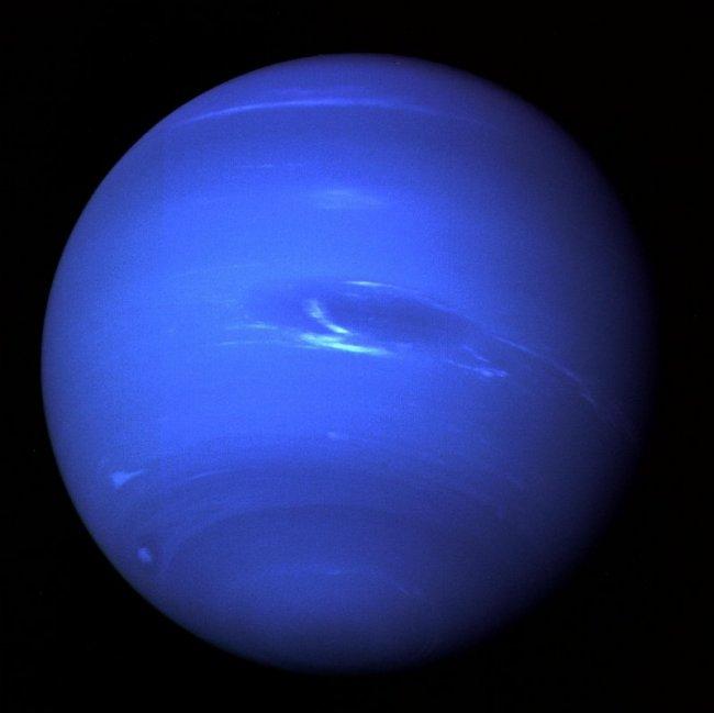 Neptunus gefotografeerd door Voyager 2 in 1989