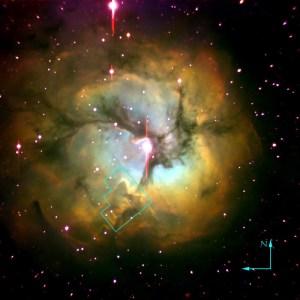 Messier 20 in Sagittarius