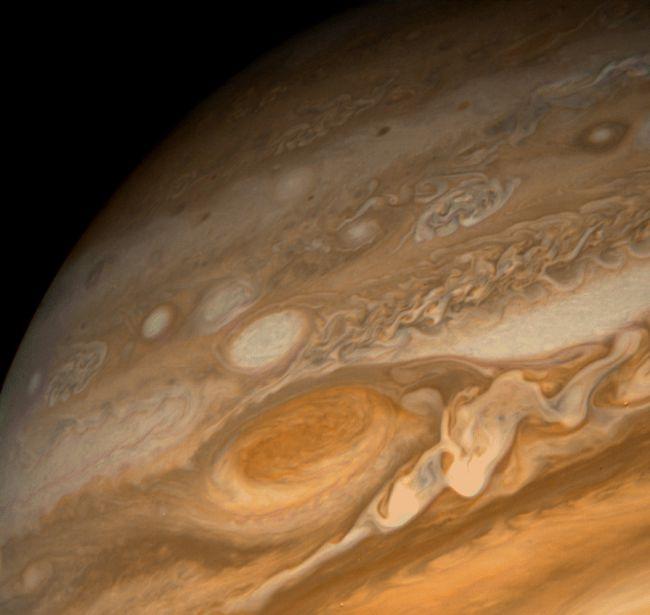 De Grote Rode Vlek zoals gezien door de Voyager ruimtesonde