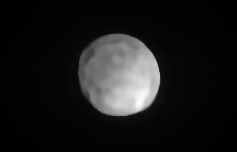 Hygiea gefotografeerd m.b.v. SPHERE/VLT