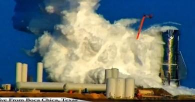 De explosie van Starship.